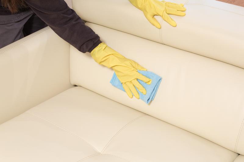 wiping sofa
